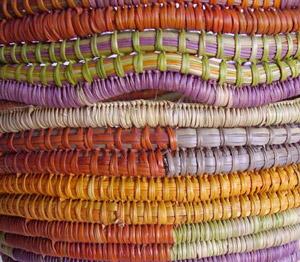 Milpuna Bidingal - Coiled basket (detail)