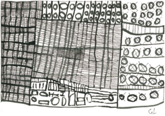 Grant Lieschke Untitled 2010 ink and pen on paper