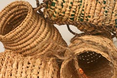 Coil Baskets 2010 raffia and wool